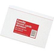 Kartotekskort A6, linjeret, 100 stk