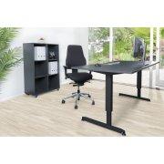 Stay møbelsæt bord m/sort stel, reol og kontorstol
