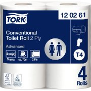 Tork T4 Advanced toiletpapir, 2-lags, 24 ruller