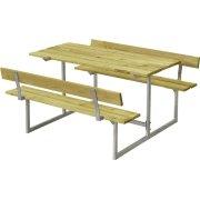 Plus Basic bord-bænkesæt til børn m. ryglæn, Natur