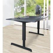Stay hæve/sænkebord grå/sort 180x90 cm