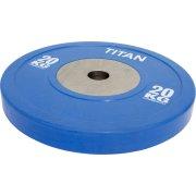 Titan Box Elite Bumper Plate, 20 kg