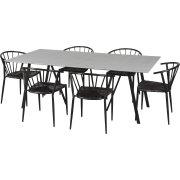 Lucca havemøbelsæt til 6 pers. - kvalitetsstole