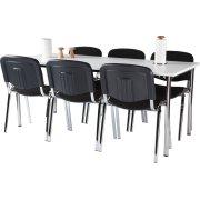 Casa Basic kantinesæt m. 6 stole og bord 180x80