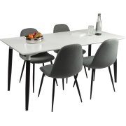 Room mødebordssæt m/ 1 bord 140x80 cm og 4 stole