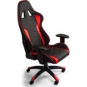 Racer-/ gamer kontorstol sort/rød PU