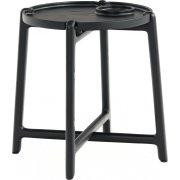 NOFU Bakkebord, Massivt asketræ sort, H 48 cm