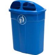 Affaldsbeholder i blå, 60 liter - Udendørs
