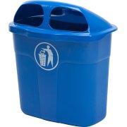 Affaldsbeholder i blå, 40 liter - Udendørs