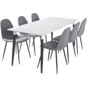 Room mødebordssæt m/ 1 bord 180x80 cm og 6 stole