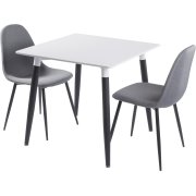 Room mødebordssæt m/ 1 bord 80x80 cm og 2 stole