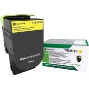 Lexmark 71B2HY0 gul tonerkassette, 3500 sider