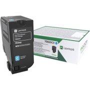 Lexmark 75B20C0 Cyan tonerkassette, 10000 sider