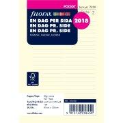 Filofax Refill Pocket Dag/side, 2018