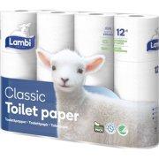 Lambi toiletpapir 3-lags, 36 ruller, hvid