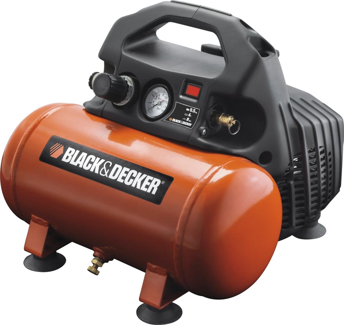 black decker kompressor 0 5 hk 6 l k b til fast lav pris lomax a s. Black Bedroom Furniture Sets. Home Design Ideas