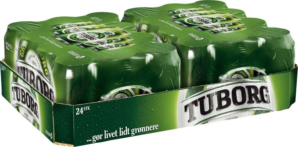 grøn tuborg på tilbud