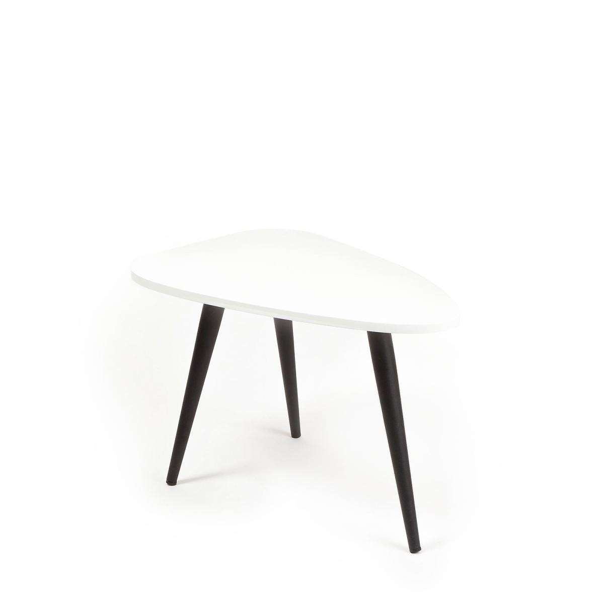 Bello Lounge bord, 70x50 cm, højde 30 cm, Hvid - køb til fast lav ...