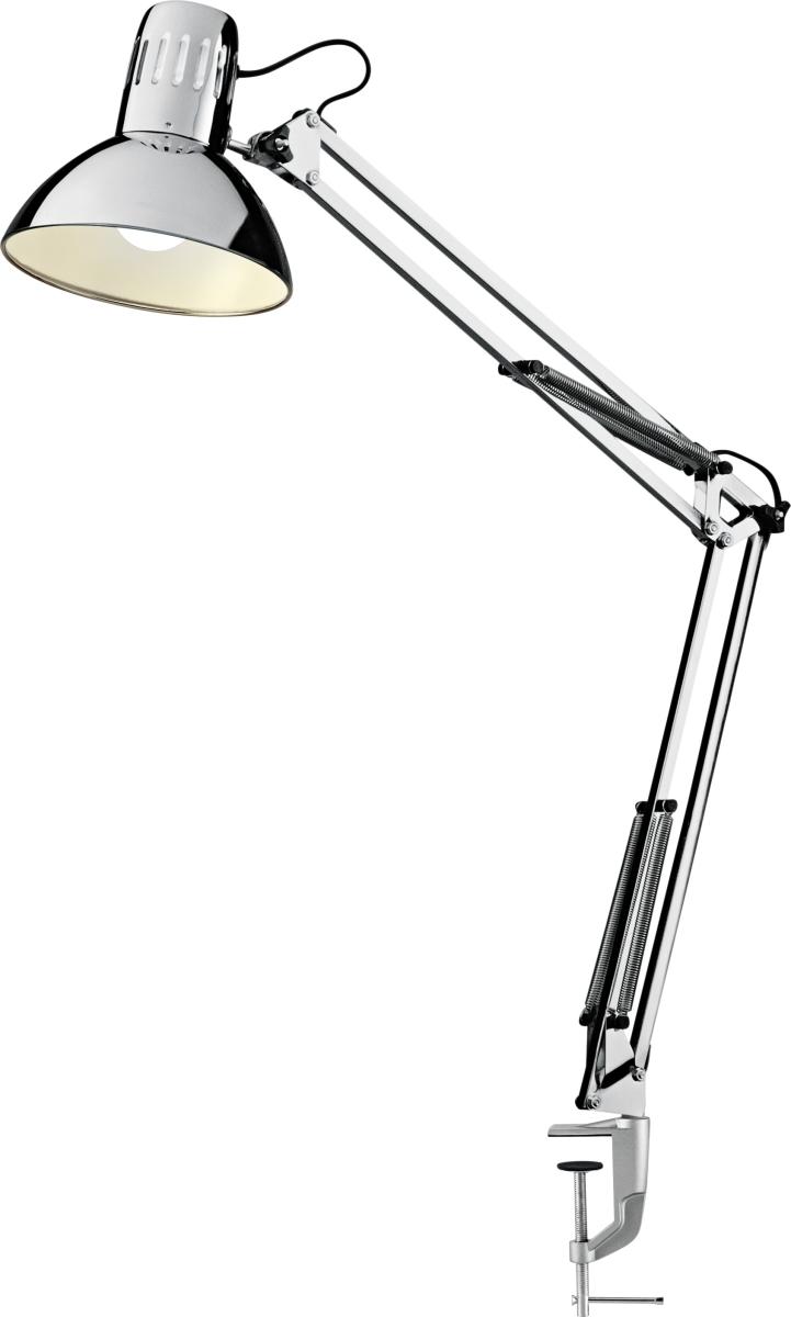 arkitektlampe Manhattan LED Arkitektlampe, krom m/ klemme   køb til fast lav  arkitektlampe