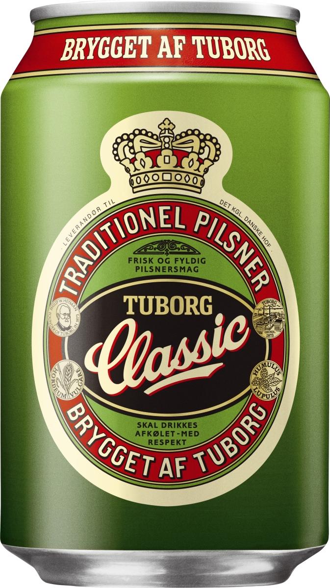 Tuborg Classic 33 cl - køb til fast lav pris - Lomax A/S