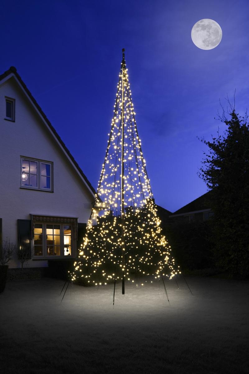 Produktdetaljer på Lyskæde til flagstang m/ 1200 LED lys, H 6 m - Lomax A/S