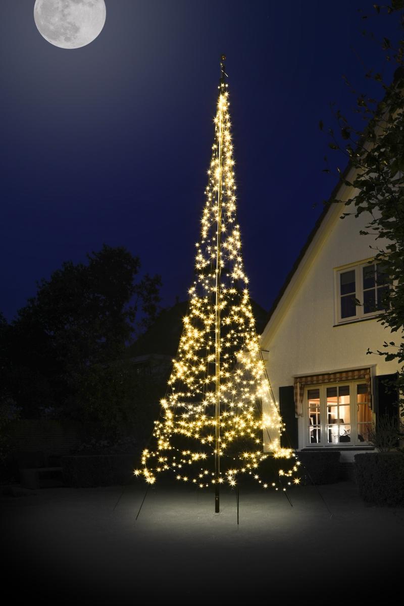 Lyskæde til flagstang m/ 900 LED lys, H 6 m - køb til fast lav pris - Lomax A/S