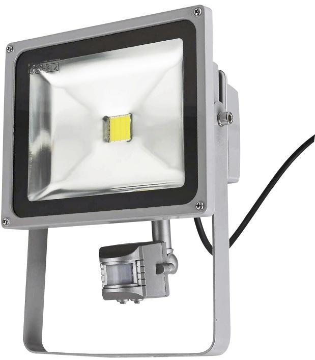 Projektør med sensor og kamera