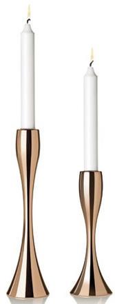 Stelton Reflection lysestager, kobber - køb til fast lav pris - Lomax A/S