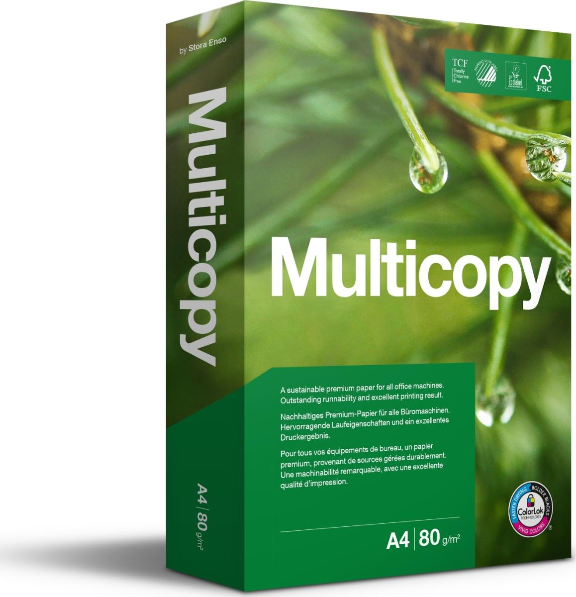 MultiCopy kopipapir A4/80g/500 ark - køb papir her ... Multicopy