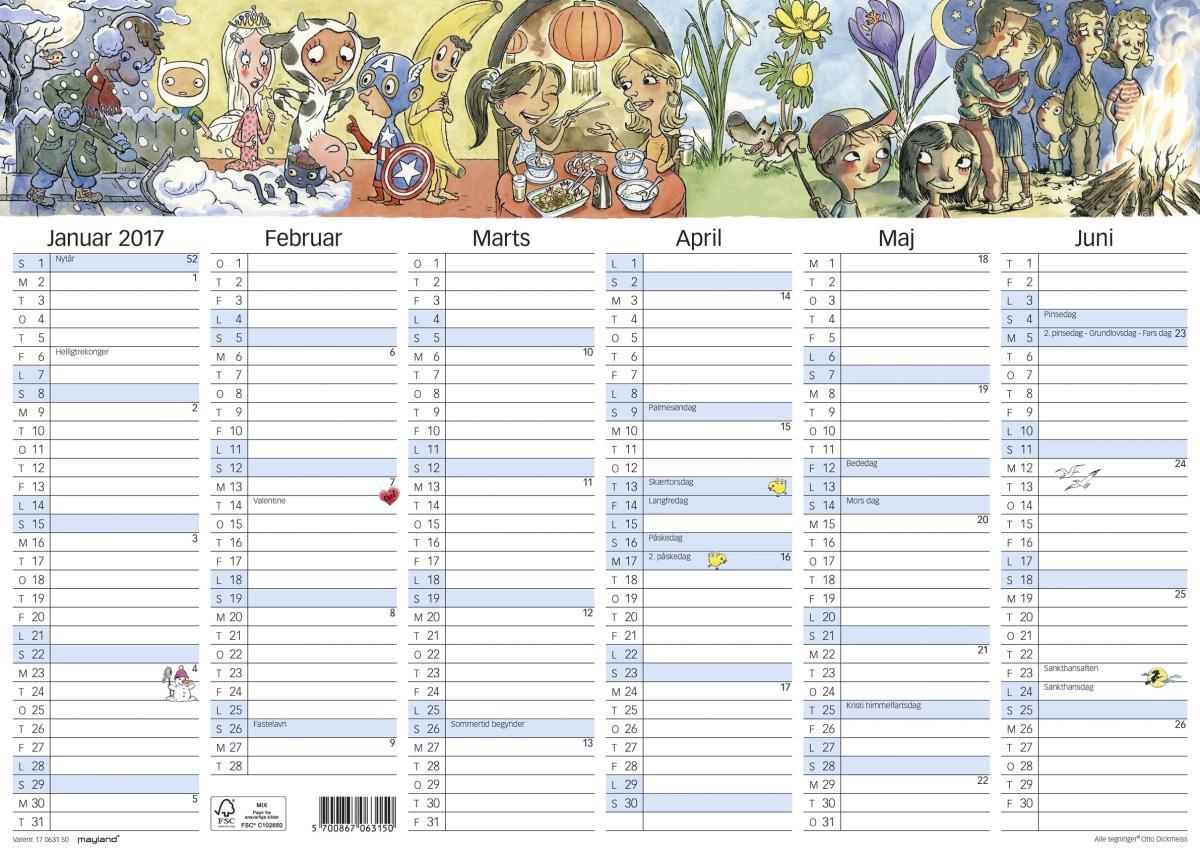 Mayland A3 kalender med illu