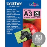 Brother Glossy inkjet fotopapir A3/260g/20 ark