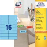 Avery 3453 farvede etiketter, 105 x 37mm, blå