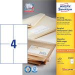 Avery LR3483 adr.etiketter, 105 x 148mm, 400stk
