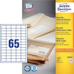 Avery LR3666 adr.etiketter, 38 x 21,2mm, 6500stk
