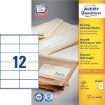Avery LR3424 adr.etiketter, 105  x 48mm, 1200stk