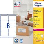 Avery LR7165-100 adr.etiketter, 99,1 x 67,7mm