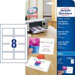 Avery C32028 visitkort, glossy, inkjet, 250g, 80s
