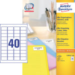 Avery L7654-100 mini etiketter, 45,7 x 25,4mm