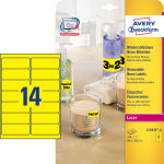 Avery L7263Y-25 pro.etiketter, 99,1 x 38,1mm, gule