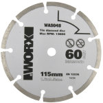 Worx klinge, Ø115 mm, 60t, diamond grit blade
