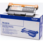 Brother TN2210 lasertoner, sort, 1200s