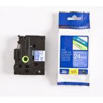 Brother TZe-555 labeltape 24mm, hvid på blå