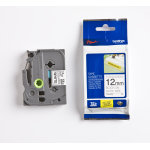 Brother TZe-S231 labeltape 12mm, sort på hvid