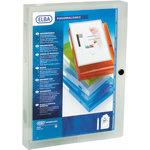 Elba Polyvision Dokumentbox, 4 cm, klar/hvid