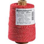 Dokumentgarn 1,1 mmx350 m, rød/hvid