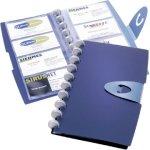 Durable Duralook visitkortmappe til 96 kort, blå