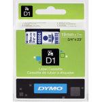 Dymo D1 labeltape 19mm, blå på hvid