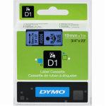 Dymo D1 labeltape 19mm, sort på blå