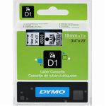 Dymo D1 labeltape 19mm, sort på klar