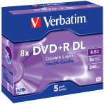 Verbatim DVD+R Double Layer Matt Silver 8x, 5 stk